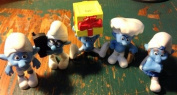 5 Smurf PVC Figures by Peyo