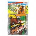 DEUXE FARM ANIMALS AND FARM VEHICLE TOY PLAYSET -Horses, Cows, Waggons, Sheep, Pigs, Old McDonald and more!