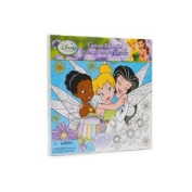 Disney Paint Set Art Fairies 25cm X 25cm Canvas 2 Brushes 5 Acrylic Paints