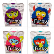 Furby Party Rockers Four Pack Brand New Sealed! Pink, Purple, Dark Blue and Light Blue Included!