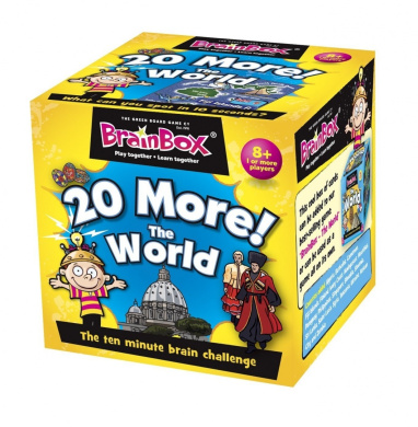 Green Board Games BrainBox 20 More The World Educational Games