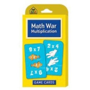 20 Pack SCHOOL ZONE PUBLISHING MATH WAR MULTIPLICATION GAME CARDS