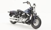 Harley Davidson FLSTSB Cross Bones, met.-dark-blue, 2008, Model Car, Ready-made, Maisto 1:18