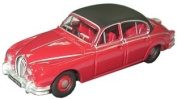 Oxford Diecast Jaguar Mk5.1cm Regency Red - 1/76 Diecast Model