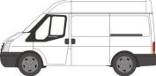 Oxford Diecast Ford Transit Van (Medium Roof)- 1/76 OO Scale Diecast Model