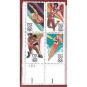 Stamps, U.S. Olympic 84 Scott 2082-2085 MNH Block of 4