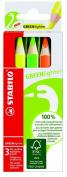 Stabilo 6007/3 - Greenlighter Bright Colouring Pencils 3 Box