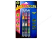 Face Paint Stackable Crayons 18/Pkg-Bright/Pearl/Brilliant