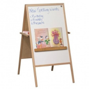 Balt Double-Sided Instructional Magnetic Easel - 60cm Width x 120cm Height - Porcelain Surface - Frame - Film - 1 Each