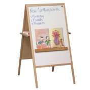 Balt Double-Sided Instructional Easel with Oak Tray, Magnetic