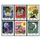 China Stamps - 1987 , T120, Scott 2110-15 Fable/Fairy Tales of Ancient China - MNH, F-VF