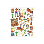 Tattoo King Multi Coloured Stickers Cowboys & Indians