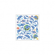Multi-Coloured Stickers-Dolphin Fun 129900 Tattoo King