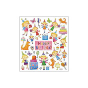 Multi-Coloured Stickers-Birthday Fairies