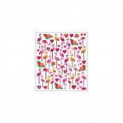 Multi-Coloured Stickers-Flamingo Love