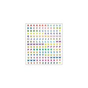 Multicoloured Stickers-Prismatic Alphabet