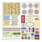 Fair Skies Stickers 10cm x 15cm Sheets 6/Pkg-Dusk