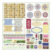 Fair Skies Stickers 10cm x 15cm Sheets 6/Pkg-Dusk
