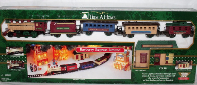 Trim a Home Bayberry Express Limited Holiday Train Set - Light & Motion