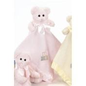 Pink Bear Hugs Blankie by Bearington - 1955