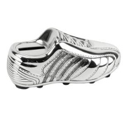 Baby Gift Ideas-Silver Plated Football Money Box - New Baby, Christening Boys Present