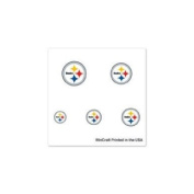Pittsburgh Steelers Official NFL 2.5cm x 2.5cm Fingernail Tattoo Set by Wincraft