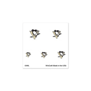 Pittsburgh Penguins Official NHL 2.5cm x 2.5cm Fingernail Tattoo Set by Wincraft