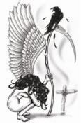 Angel of Death Temporary Tattoo
