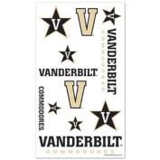 Vanderbilt Commodores Official NCAA 10cm x 18cm Temporary Tattoos by Wincraft