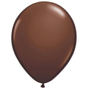 Qualatex 13cm Round Balloons, Chocolate Brown - Pack of 20