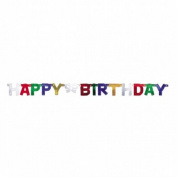 Amscan International Happy Birthday Letter Banner