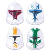 Star Wars Clone Wars Helmet Pop Tops Cake Topper Set of 4