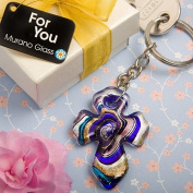 Murano Collection Cross Design Key Chain Favours