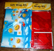 2 Gift Wrap Kits - Includes Wrapping Paper (60cm X 90cm ), Gift Card & Envelope