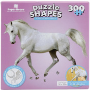 Jigsaw Shaped Puzzle 300 Pieces-White Horse