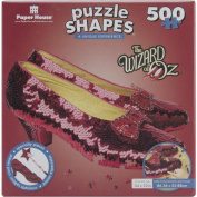 Wizard of Oz Ruby Slippers 500 Piece Shaped Puzzle