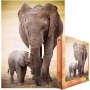 Eurographics EUROPZ-0270 Jigsaw Puzzle 1000 Pieces 49cm . X70cm . -Elephant And Baby