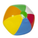 Inflatable Rainbow Colour Beach Balls (Approx 46cm Inflated) - 3 Pack