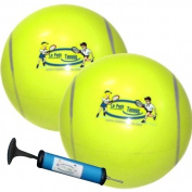 Le Petit Tennis - My First Tennis Ball - Pack of 2 Balls + Pump (15cm Inflatable Tennis Ball) for Ages 2-3-4-5-6