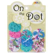 Fabric Palette On the Dot Yo-Yos 3.8cm 100% Cotton 10/Pkg-Punch of Paisley YoYo