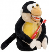StarSmilez Kids Tooth Brushing Buddy- Lil Plush Monkey