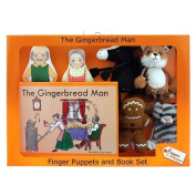 The Gingerbread Man Finger Puppets Story Book Boxed Set