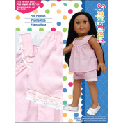 Fibre Craft Springfield Collection Pyjamas for Doll, Pink