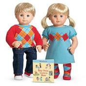American Girl Bitty Twins Blonde Hair Blue Eyes Boy and Girl