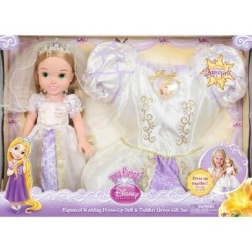 Disney Princess Toddler Doll With Dress: Disney Princess Rapunzel Wedding Dress-up Doll & Toddler