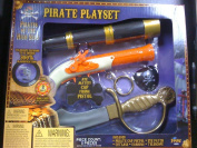 Pirates of the High Seas Costume Accessories Pirate Playset with Telescope, Cap Pistol, Eye Patch, Cutlass and Earing