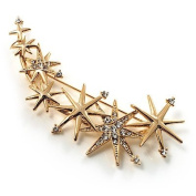 Crystal 'Star Rain' Brooch