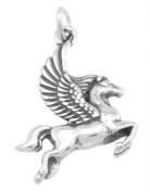 Sterling Silver One Sided Greek Mythology Pegasus Charm