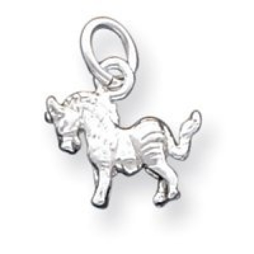 Sterling Silver Horse Charm - JewelryWeb. Shipping is Free