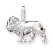 Sterling Silver Lion Charm - JewelryWeb